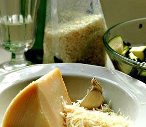 Risotto ze świeżymi jarzynami na wermucie (kuchnia włoska)