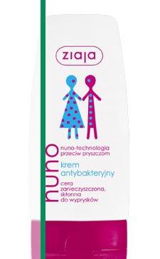 Nuno - technologia przeciw pryszczom - krem antybakteryjny