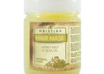 Maska do włosów normalnych z miodem, mlekiem i oliwą z oliwek