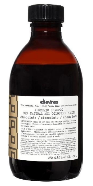 Davines, Alchemic, Chocolate Shampoo (Szampon do włosów ciemnobrązowych i czarnych)
