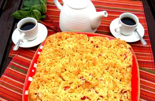 Ciasto z rabarbarową pianką