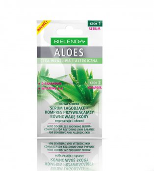 Aloes - bezzapachowe serum łagodzące i kompres przywracający równowagę skóry