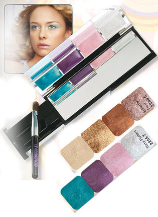 Color Trend - Pretty Eyes Case - Paletka cieni w kremie