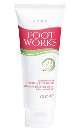 Foot Works - Watermelon Exfoliating Foot Scrub - Scrub do stóp z arbuzem