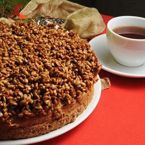 Świąteczne ciasto kajmakowe ze słonecznikiem