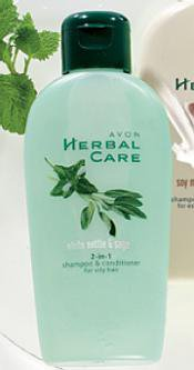 Herbal Care - szampon z odżywką 2w1 do włosów przetłuszczających się z pokrzywą i szałwią