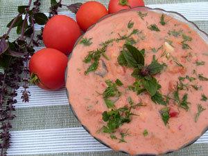 Chłodnik pomidorowo-ziołowy