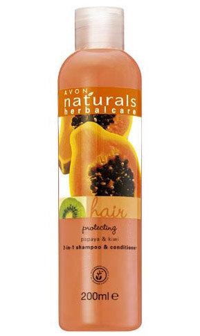 Naturals - Papaja i kiwi - Ochronny szampon z odżywką 2 w 1