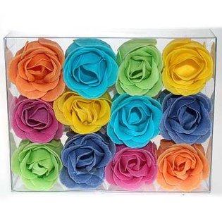Płatki mydlane do kąpieli - różyczki o zapachu różanym