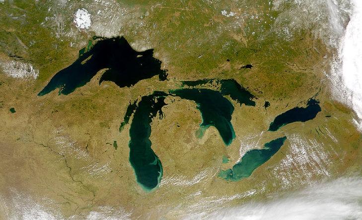 Wielkie Jeziora – zdjecie satelitarne
