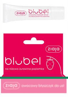 Blubel - owocowy błyszczyk do ust, na różowo - żurawina - poziomka
