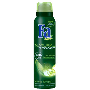 Natural & Power - White Grape with Absorbing Bamboo Extract - antiperspirant spray