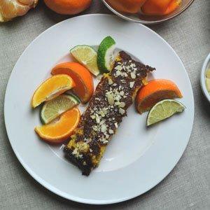 Ciasto mandarynowo – migdałowe
