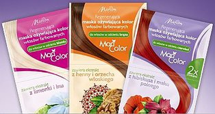 MariColor - maseczka regenerująca do włosów brązowych z henną i orzechem włoskim