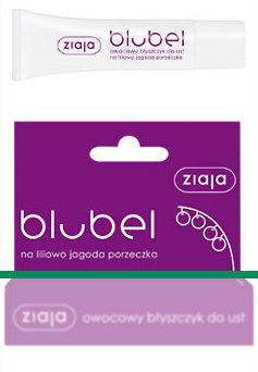 Blubel - owocowy błyszczyk do ust na liliowowo - jagoda - porzeczka