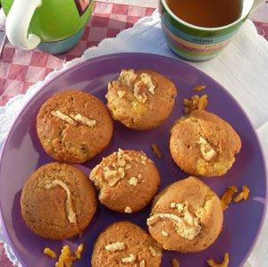 Muffinki z pomarańczową konfiturą