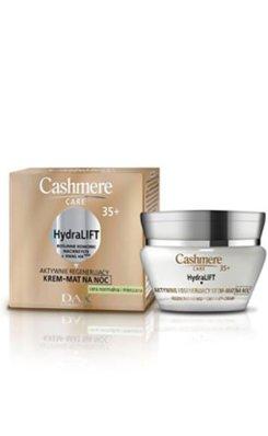 Cashmere Care 35+ - HydraLIFT Intensywnie regenerujący krem-mat na noc do cery normalnej i mieszanej