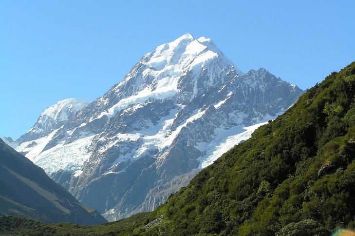 Góra Cooka – najwyższy szczyt w Nowej Zelandii.