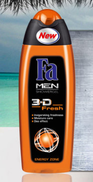 Men 3D Fresh Energy Zone - Shower gel - żel pod prysznic