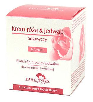 Róża & Jedwab - krem odżywczy na noc do cery suchej i wrażliwej