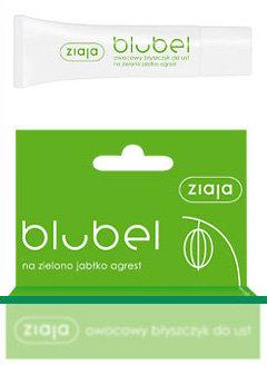 Blubel - owocowy błyszczyk do ust na zielono - jabłko - agrest