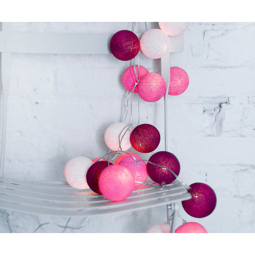 Lampka z Kul Cotton Ball Lights Sweet Pink 50 szt. Cena: 219 zł