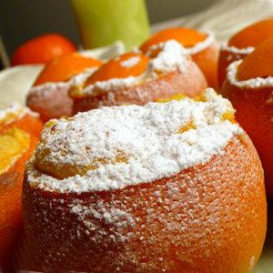 Świąteczne suflety z pomarańczy