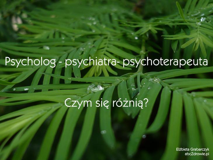 Psycholog - psychiatra - psychoterapeuta. Czym się różnią te zawody?