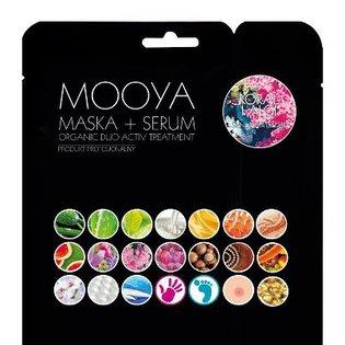 Mooya - maska + serum - bio organiczny zabieg - tonizacja i nawilżenie