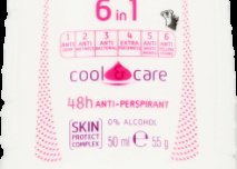 Adidas for Women, Cool & Care, 6 in 1 Roll - On