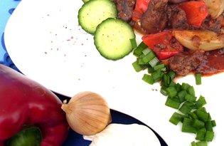 Wątróbka zapiekana  z warzywami
