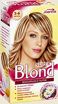 Super Blond - Superrozjasniacz do pasemek i balejażu 5-6 tonów