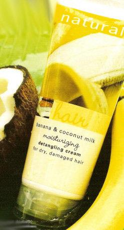 Naturals - Banan i mleczko kokosowe - maseczka do włosów