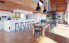 Wyspa kuchenna jest bardzo nowoczesnym i funkcjonalnym sposobem na połączenie kuchni oraz jadalni.