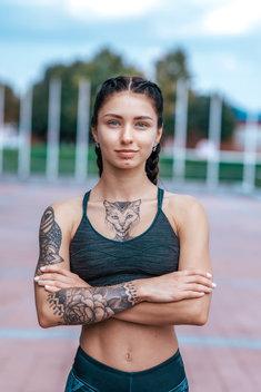 Tatuaż 3d przyciąga wzrok nadzwyczajnym efektem.
