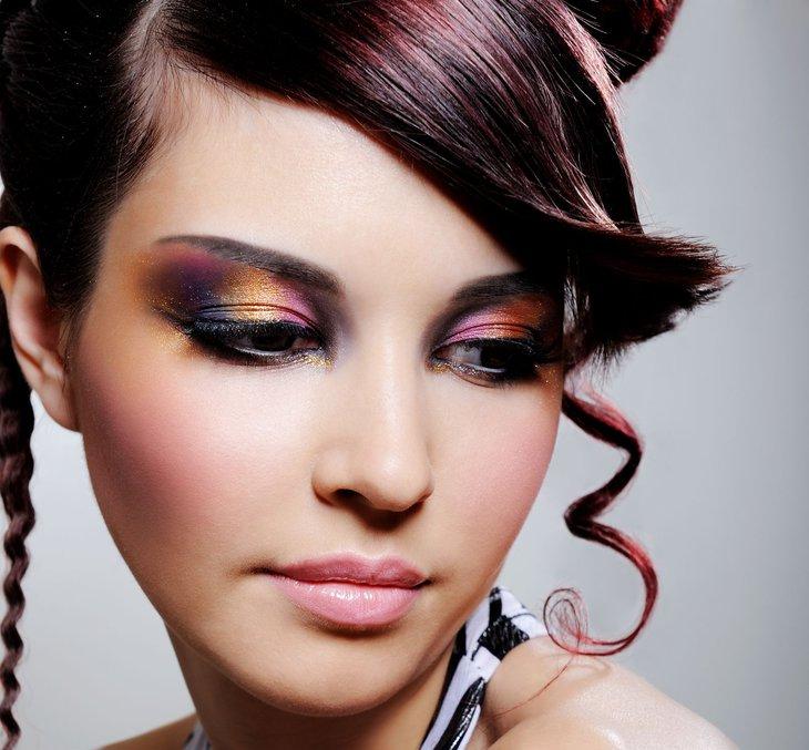 Kolorowy makijaż 1