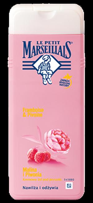 Le Petit Marseillais, Douche Creme Extra Doux Framboise & Pivoine (Kremowy żel pod prysznic `Malina i piwonia`)