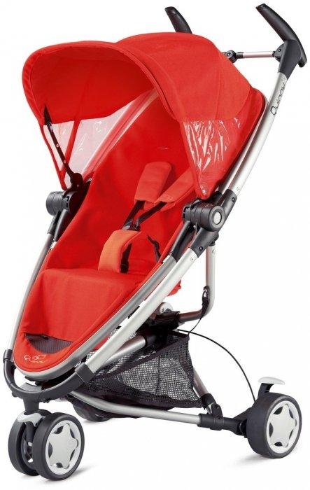 Wózek dziecięcy Quinny Zapp Xtra 2013 (ok. 556 zł). Składany do małych rozmiarów, dobrze wyposażony i zwrotny wózek z obrotowymi kołami i odwracanym siedziskiem.