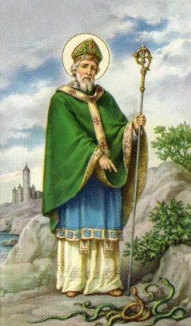 Św. Patryk żył w V w. Przez 30 lat był misjonarzem w Irlandii. Mimo iż za jego życia chrześcijaństwo nie stało się jeszcze religią panującą, uważa się, że w szczególny sposób przyczynił się do chrystianizacji tego kraju. Legendy o nim są żywe do dziś.